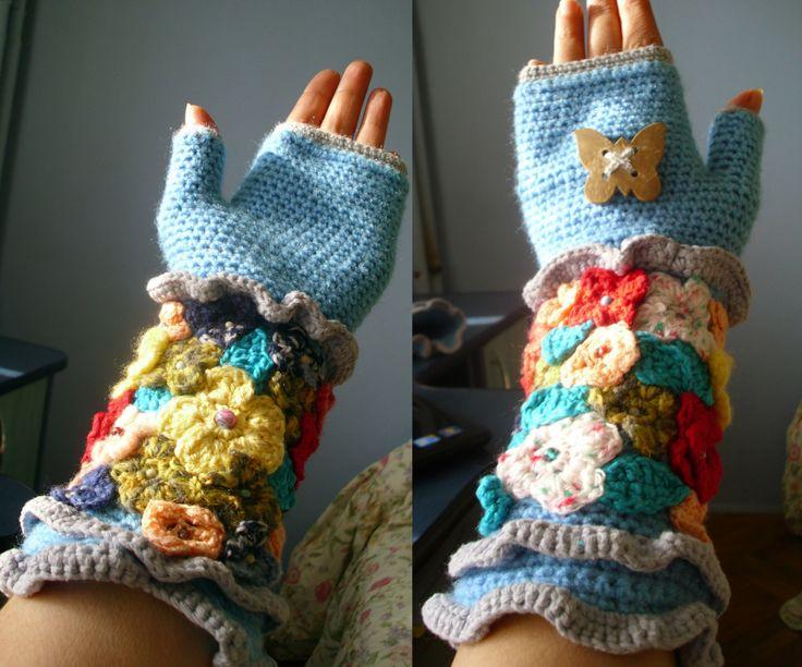 Crochet fingerless gloves, fingerless gloves,boho glove, unique glove,crochet glove mittens, womens gloves by RomanticHandmade on Etsy