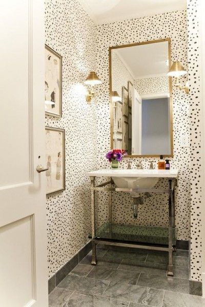 Pictures In Gallery Lilly Bunn Interior bathrooms powder room wallpaper in powder room wallpaper for powder room powder room wallpaper dalmatian wallpap