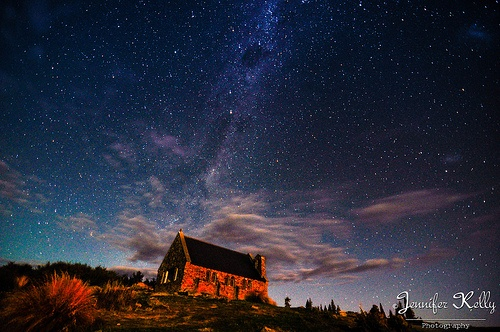 the Church of the Good Shephard at night along with the milky way in the background.  Limited edition canvas prints will be available soon.