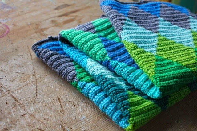 little woollie: #Crochet Harlequin Blanket #4