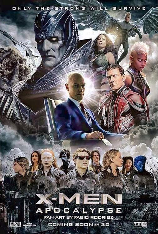 X-Men: Apocalypse is a superhero film based on the X-Men characters that appear in Marvel Comics. Directed by Bryan Singer, with a screenplay by Simon Kinberg. The starring James McAvoy, Michael Fassbender, Jennifer Lawrence, Oscar Isaac, Nicholas Hoult and Ben Hardy. This film release on 27 May 2016 >>> https://www.facebook.com/xmenapocalypsefilmfullhd