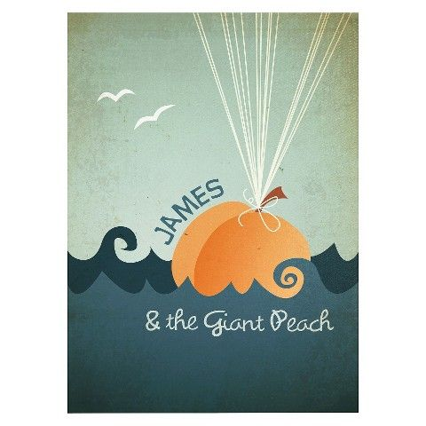 Megan Romo - James and the Giant Peach Wall Canvas