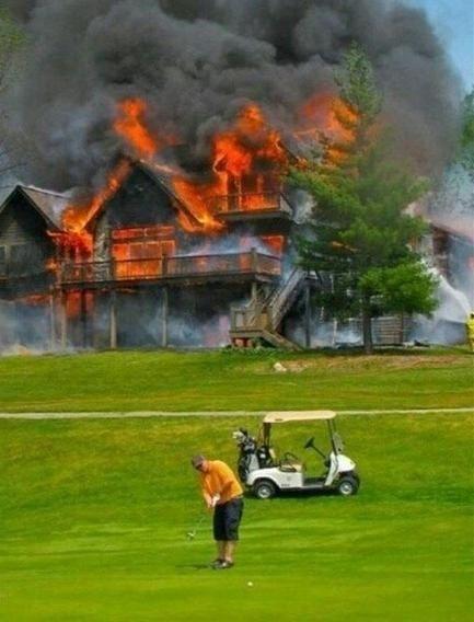 Golf fire calm