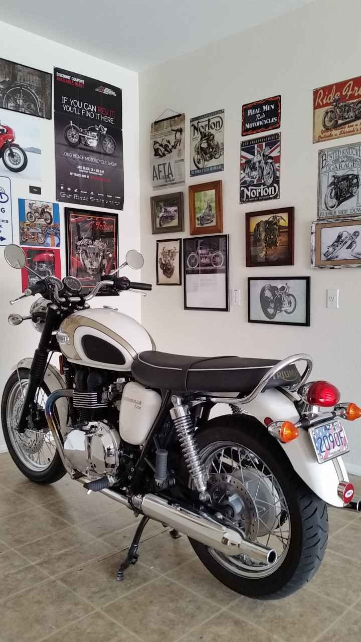 Used 2014 Triumph BONNEVILLE T100 Motorcycles For Sale in Arizona,AZ. Original old guy owner. Never been dropped or crashed. I don't ride much anymore and I don't want to see it just gathering dust. Needs a new rear tire or the price would be higher. All original plus a Triumph center stand added by GOAZ in Scottsdale. These bikes don't come up for sale used very often.Test ride available with cash in hand and a valid motorcycle license and proof of insurance. Please, if you make an…