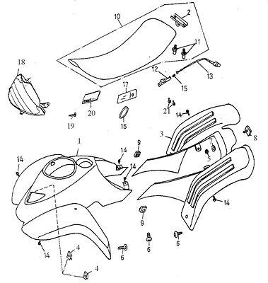 Body Cover, Seat (Adly ATV 90cc 2T)