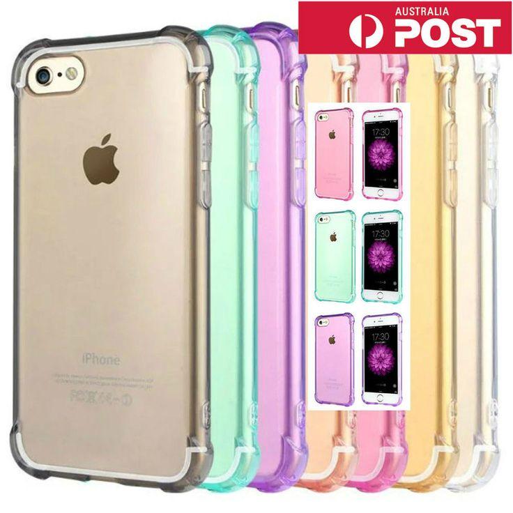 Shockproof iPhone 5 SE 6S 7 / 7 Plus Slim Soft Gel Case Cover for Apple