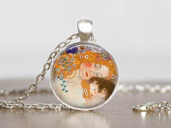 Vlechten - Kettingen Sieraden De kus Gustav Klimt - Een uniek product van MadamebutterflyMeagan op DaWanda