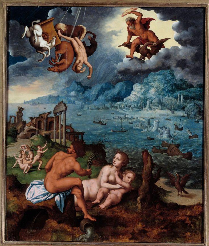 La chute de Phaéton de Jean MIGNON (16e s.) (Métamorphoses d'Ovide - livre 2)