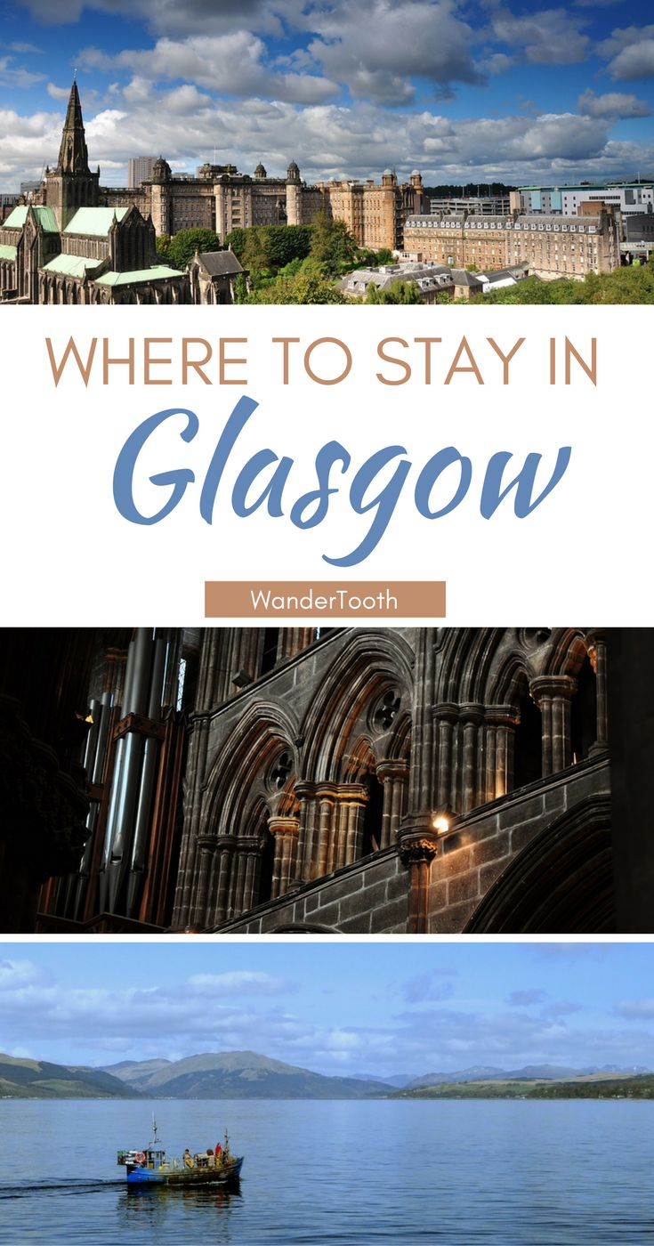 Where to stay in Glasgow, Scotland: all you need to know about Glasgow's best neighborhoods. Tips and recommendations for places to stay in Glasgow.   Glasgow Travel Tips   Glasgow city guide - @WanderTooth