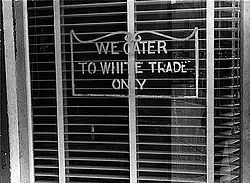 """Separate but Equal."" A restaurant in Lancaster, Ohio, in 1938."