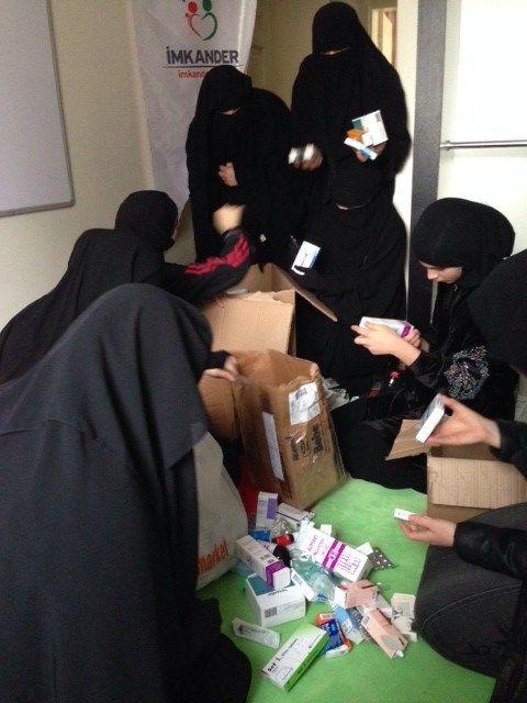 Hilfspakete für Syrien