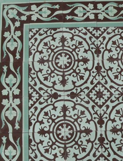 Kitchen and Residential Design: Cuban tile isn't encaustic, it's cement. It's not really cement either, it's concrete.