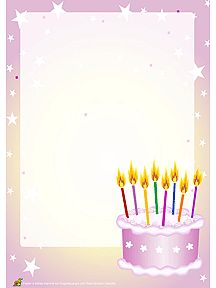 birthday letter template pink