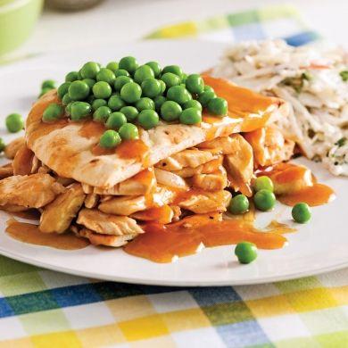 Hot chicken, sauce barbecue au paprika fumé - Soupers de semaine - Recettes 5-15 - Recettes express 5/15 - Pratico Pratique