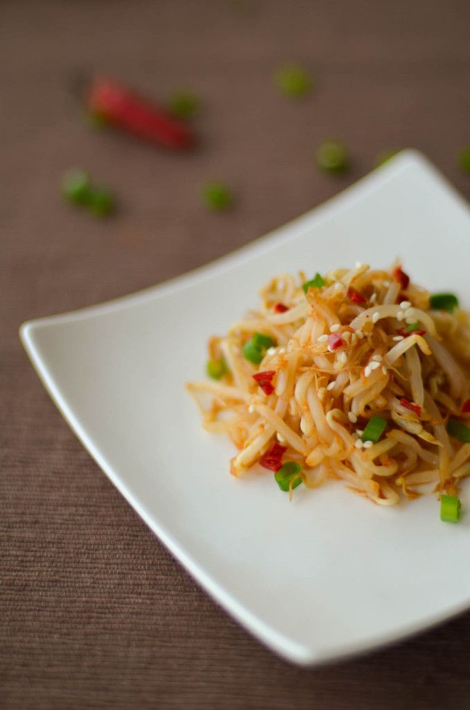 SPICY KOREAN BEAN SPROUT SALAD Perfect for summer. Make it for your family this summer.  http://chindian.kitchen/spicy-korean-bean-sprout-salad/