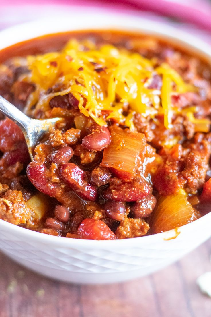 The Best Ground Beef Chili Easy Stovetop Recipe In 2020 Best Easy Chili Recipe Beef Chili Easy Chili Recipe Easy