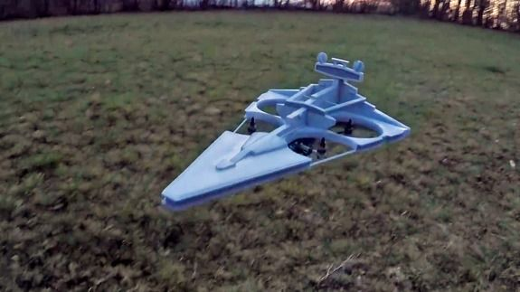 Sith Lords approve of this man's Imperial Star Destroyer drone