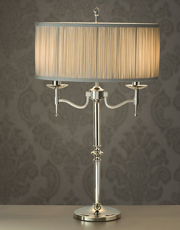 Viore Design - Stanford Polished Nickel 2 Lights Table Lamp