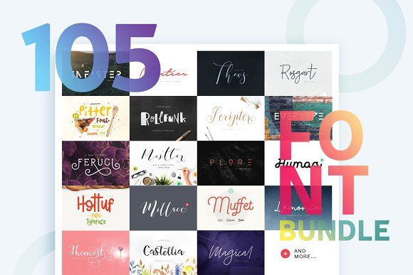 Huge Font Bundle. Creative and handwriting fonts for businesses like blogging, graphic design, wedding invitations, resumes. More #modern #fonts for your #brand you can download here ➝ https://creativemarket.com/fonts?u=BarcelonaDesignShop