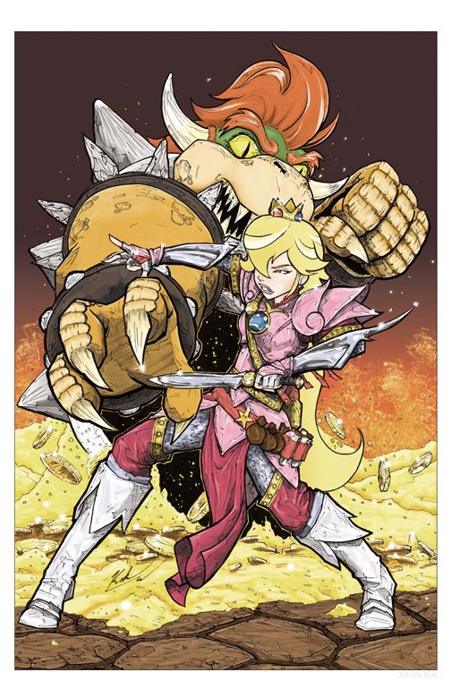 Princess Peach vs. Koopa by Johnni Kok