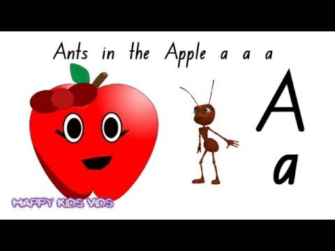 Ants in the Apple Alphabet Phonics song (Australian Version) - Ants in the Apple is an excellent song that kids love to sing along to. It teaches the letters of the alphabet as well as phonics. This version has flash car...