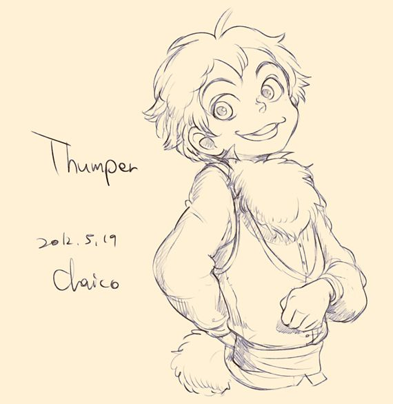 Disney animals as people - Thumper by *chacckco on deviantART