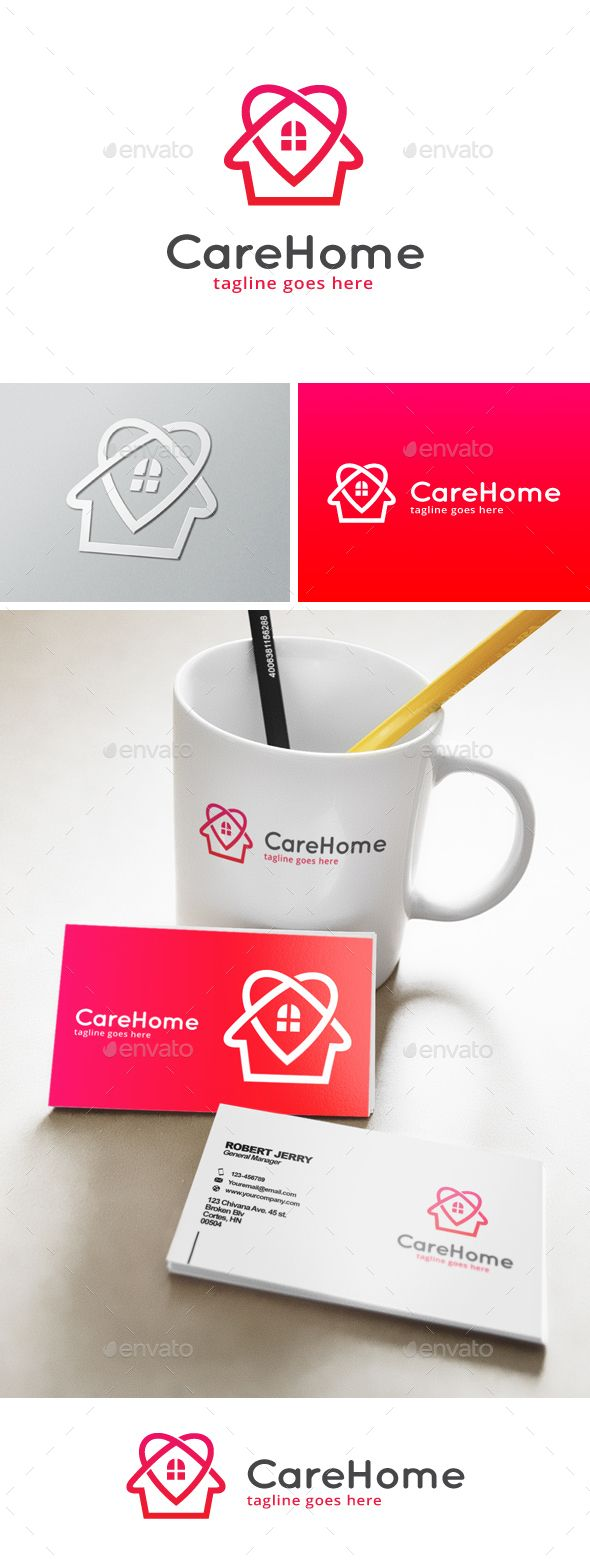 Care Home Logo  EPS Template • Download ↓ https://graphicriver.net/item/care-home-logo/13306984?ref=pxcr