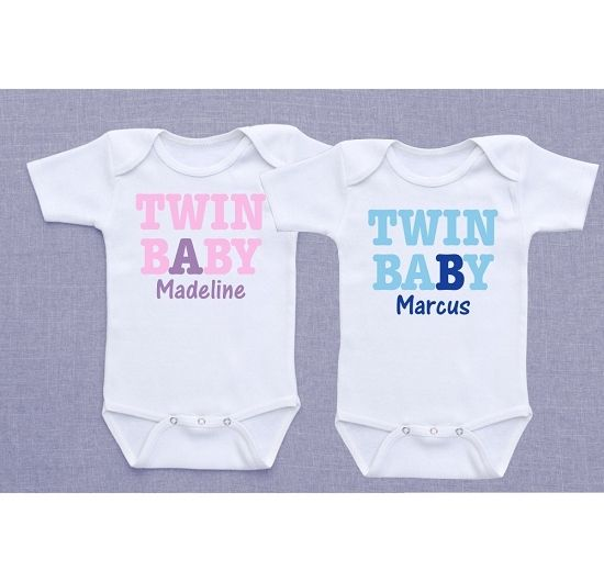 34 best twin baby registry items top twin registry products personalized baby a and baby b shirts negle Choice Image
