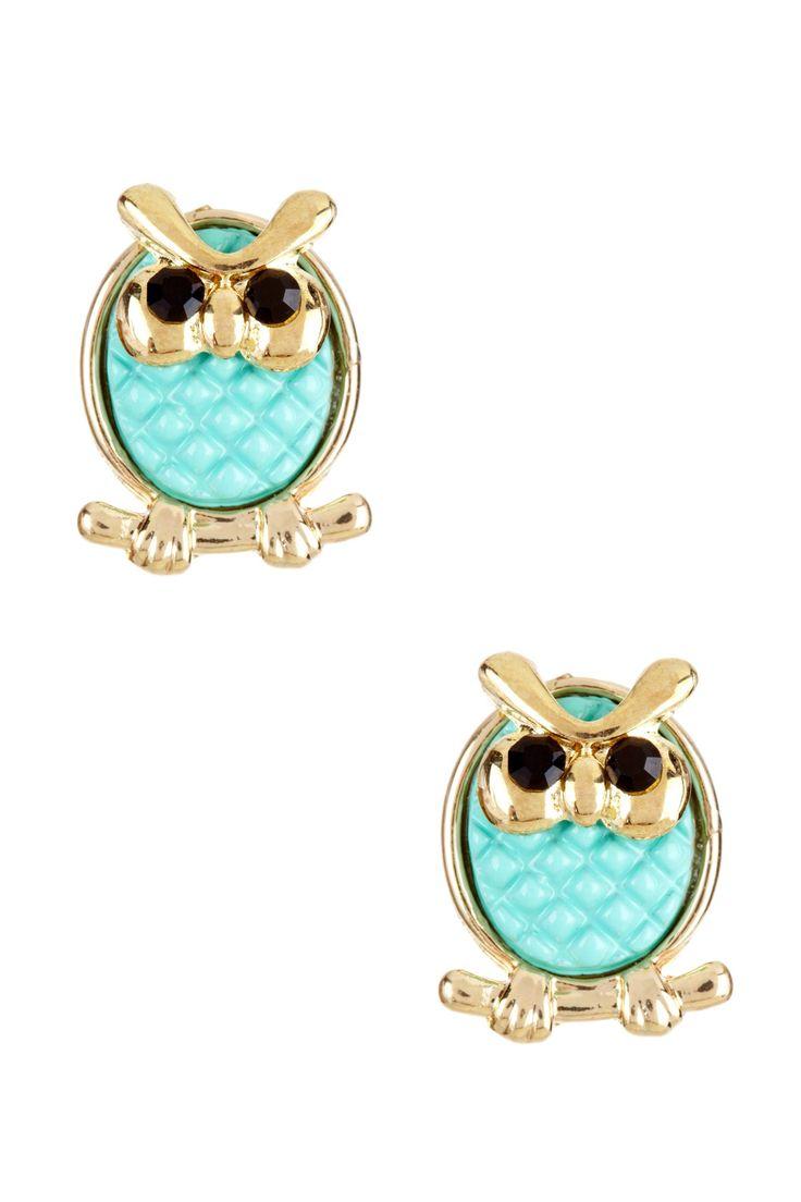 Baby Owl Stud Earrings