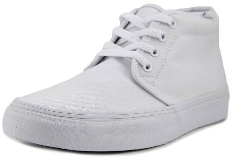 Vans Chukka Boot Men US 8.5 White Fashion Sneakers