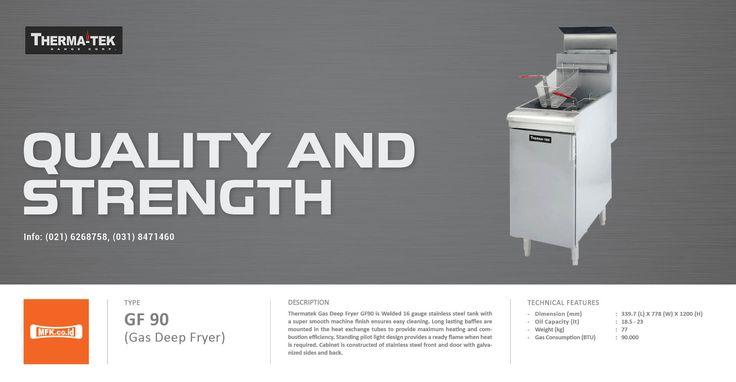 Therma-tek GF-90 Gas Deep Fryer for the best frying result. #thermatek #deepfryer