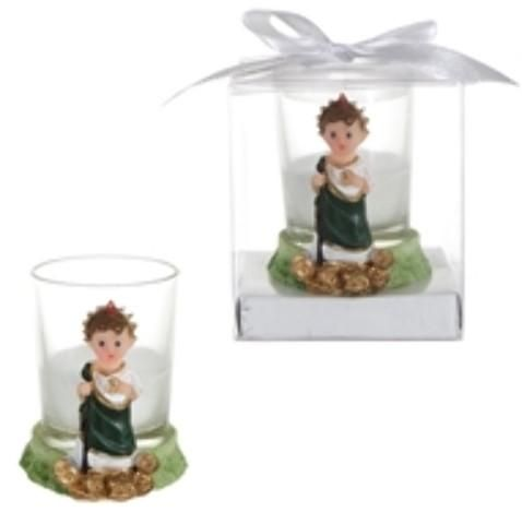 Baby St. Judas Poly Resin Candle Set in Gift Box - White - 48 Units
