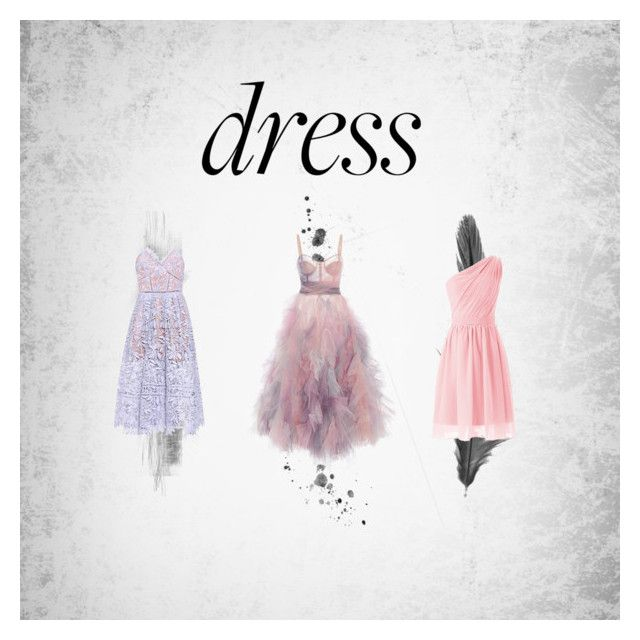 """dress x3"" by annelenelala on Polyvore featuring Marchesa and self-portrait"