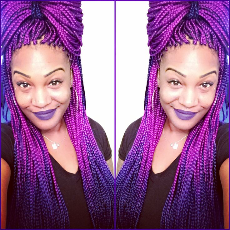 25 best ideas about purple box braids on pinterest