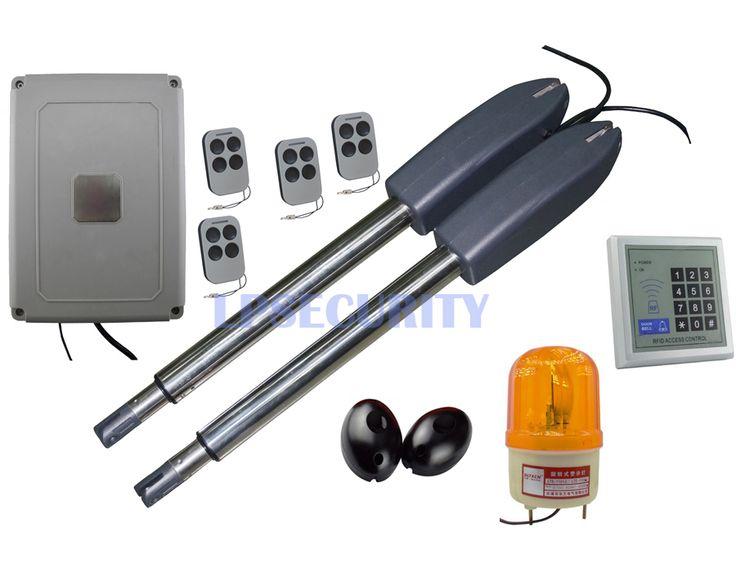 intensive use 300kg per leaf 24VDC electric swing gate opener motor operator complete kit set with keypad lamp photocell