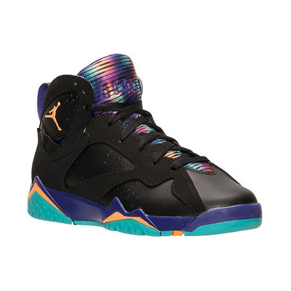 Girls' Grade School Air Jordan Retro 7 (3.5y-9.5y) Basketball Shoes ❤ liked on Polyvore featuring shoes, jordans and sneakers