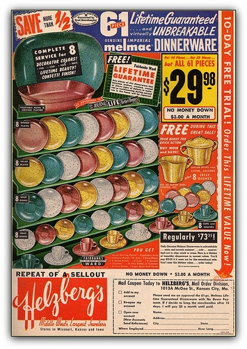 Melmac - vintage advertisement.