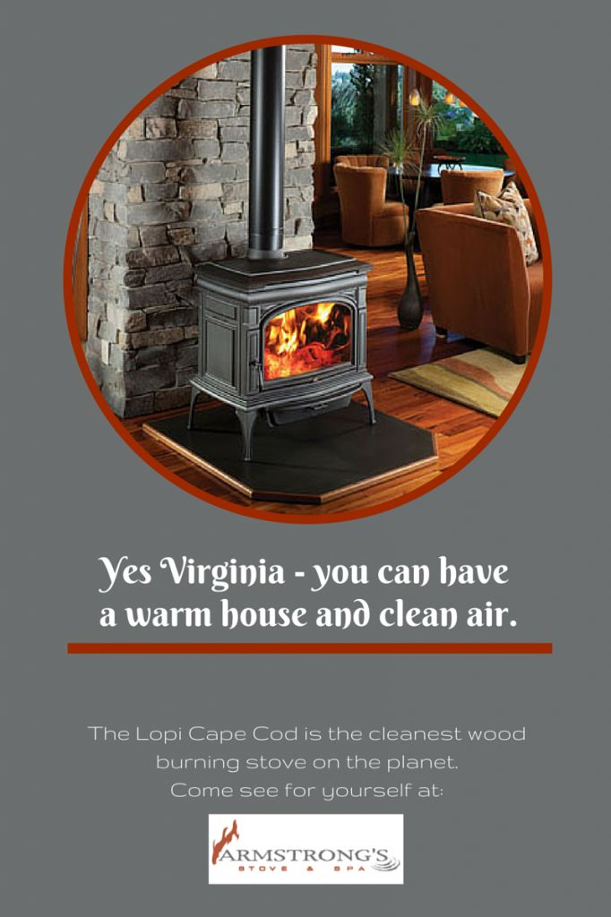 Lopi Cape Cod - the world's cleanest burning wood stove.