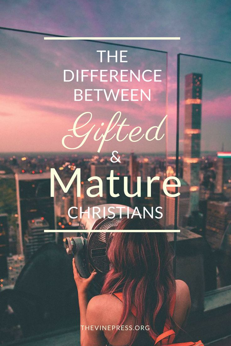 Gifts are not a mark of maturity.  We all have gifts from God, talents and spiritual gifts that He's given to us.  But we are not all mature.