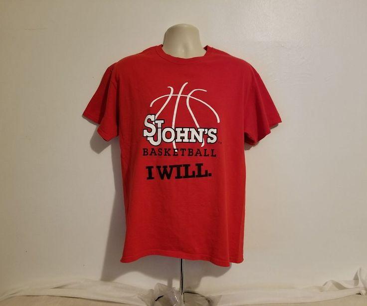 St John's University Basketball I Will Adult Large Red T-Shirt #Gildan