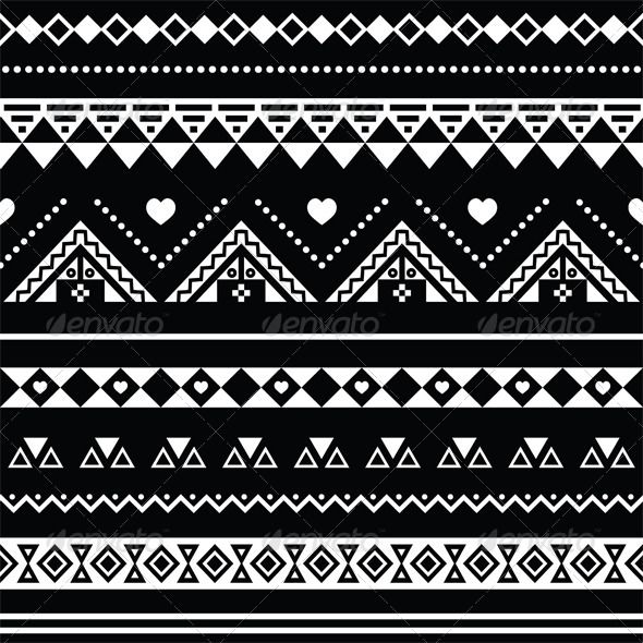 Aztec seamless pattern tribal black and white aztec print backgroundaztec wallpaperethnic