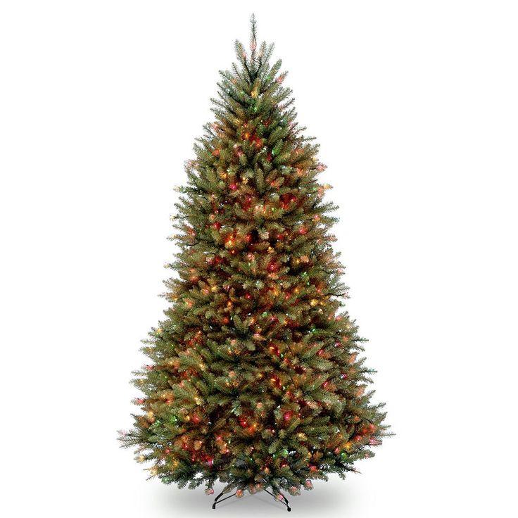 9-ft. Pre-Lit Multicolor Dunhill Fir Artificial Christmas Tree, Green