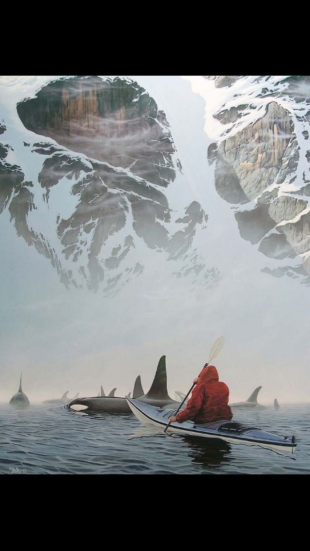 Paddling with orca whales in Alaska. I so want to do this!