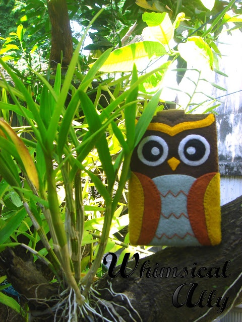 Athena Owl is in the garden