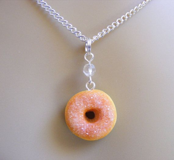 Hey, I found this really awesome Etsy listing at https://www.etsy.com/listing/195950257/food-jewelry-sugar-donut-necklace-donut