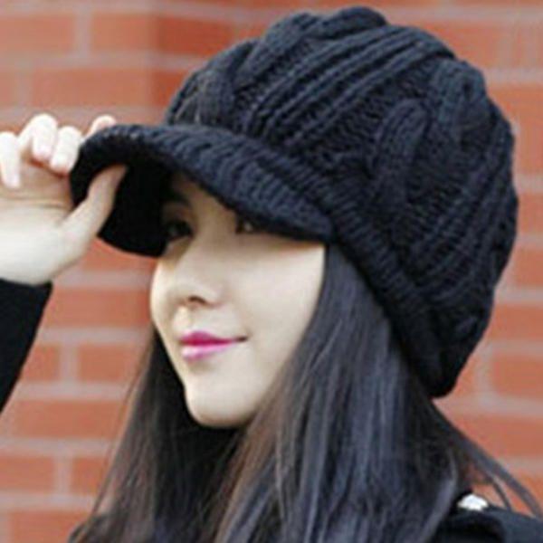 Women Knitted Caps Sunshade Hats at Banggood