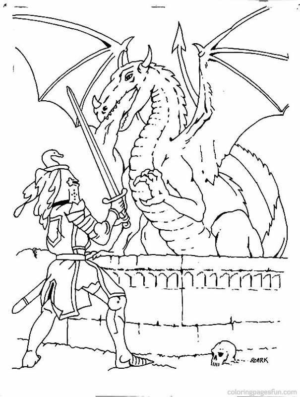 Knight And Dragon Coloring Page Youngandtae Com Ausmalbilder Ritter Ausmalbilder Drachen Ausmalbilder