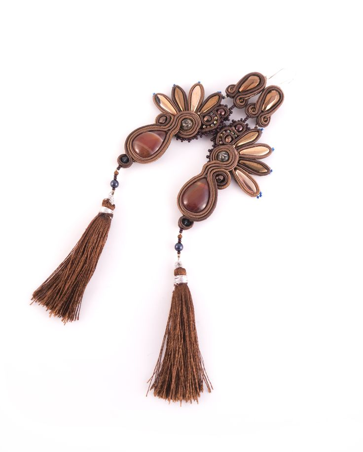 #earrings #brown #darkgold #highfashion #fashion #jewellery #soutache #sutasz #boho #bohemian #handmade #made #with #love #autumn15 #new #collection #soon #iloko.pl