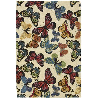 Butterfly Rugs   For The Screened In Porch