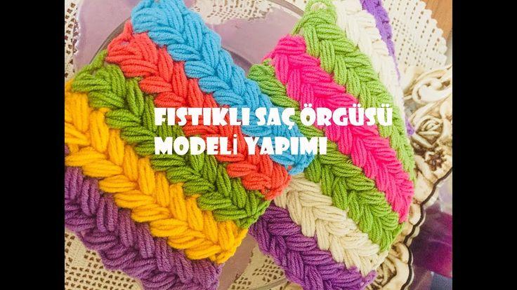 Fıstıklı Saç Örgüsü Modeli Yapımı (Puff Breaided Crochet Stitch)